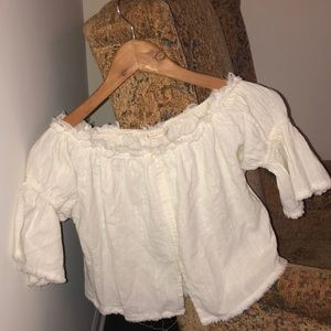 Hackwith Design House Off The Shoulder Knotted Top